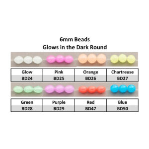 Beads 6mm Glow in the Dark Round