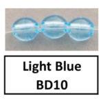 Translucent light blue