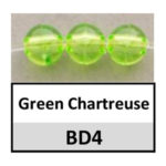 Translucent green chartreuse