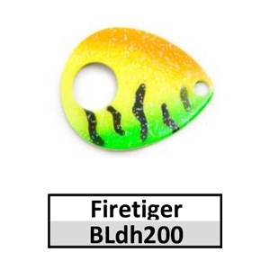 Size 5 Colorado Double Hole Custom Painted Spinner Blades – firetiger BLdh200
