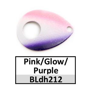 Size 4 Colorado Double Hole Custom Painted Spinner Blades – pink/glow/purple BLdh212