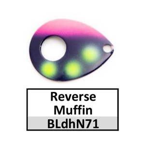 Size 5 Colorado Double Hole Custom Painted Spinner Blades – reverse muffin BLdhN71