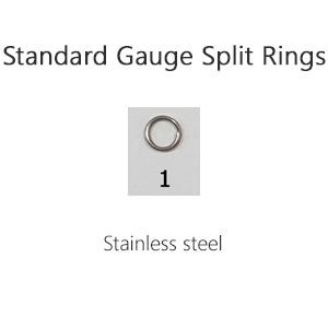 Standard Gauge Split Rings – Size 1