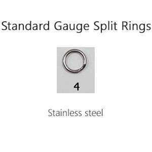 Standard Gauge Split Rings – Size 4