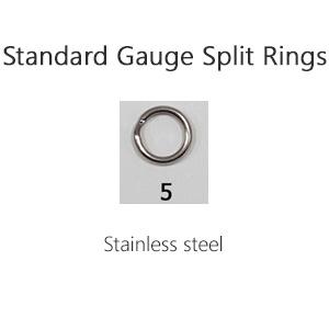 Standard Gauge Split Rings – Size 5