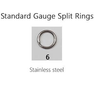 Standard Gauge Split Rings – Size 6