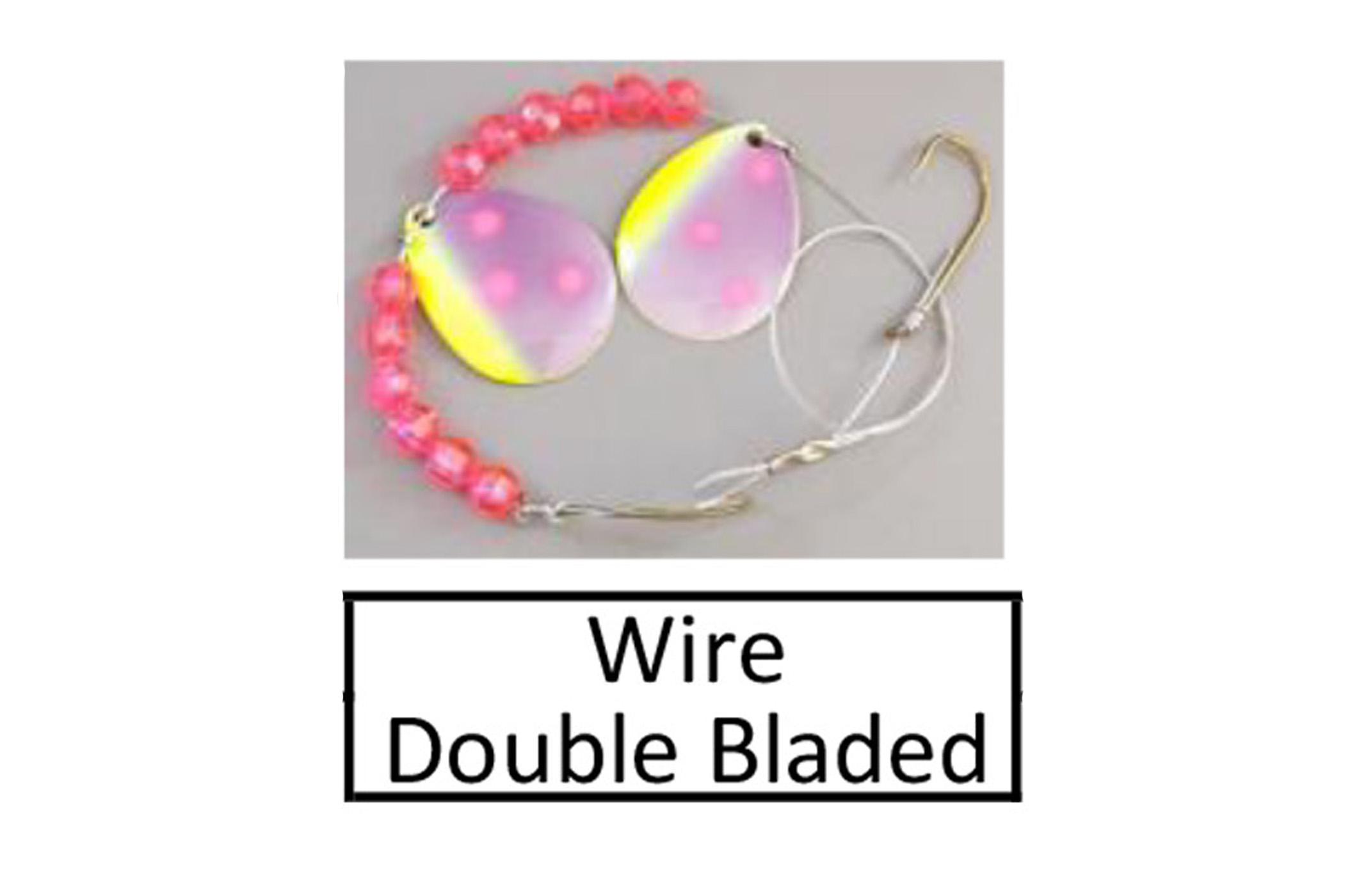 wire double blade harness link button