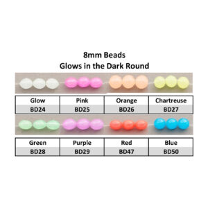 8mm Glows in the Dark Round Beads