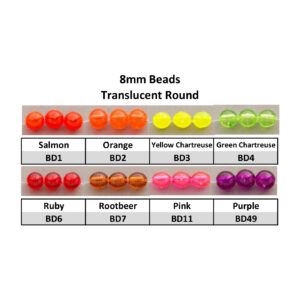 8mm Translucent Round Beads