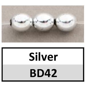 Beads 6mm Metallic Round