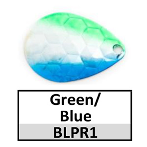 Size 4 Colorado Premium Rainbow Spinner Blades – green/blue silver BLPR1