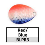red/blue silver