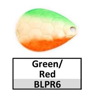 Size 4 Colorado Premium Rainbow Spinner Blades – green/red gold BLPR6