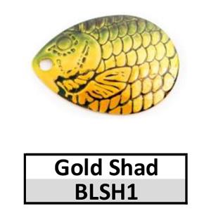 Size 4 Colorado Proscale Spinner Blades – gold firetiger shad BLSH1