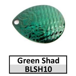 Size 4 Colorado Proscale Spinner Blades – green shad BLSH10