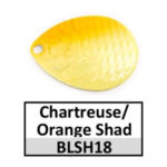 chartreuse/orange shad