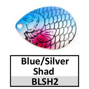 Size 4 Colorado Proscale Spinner Blades – blue/silver shad BLSH2