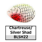 chartreuse/silver shad