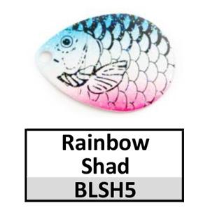 Size 3 Colorado Proscale Spinner Blades – rainbow shad BLSH5