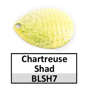 Size 3 Colorado Proscale Spinner Blades – chartreuse shad BLSH7