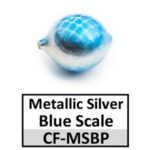 Metallic Silver w/ Blue Scale