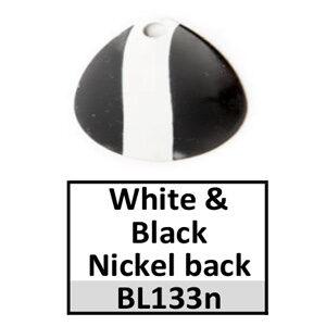 Size 3½ Colorado Striped/2 Tone Basic Spinner Blades – white-black nickel back BL133n