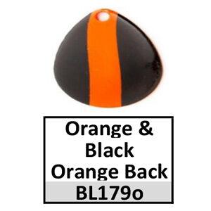 Size 2 Colorado Striped/2 Tone Basic Spinner Blades – orange-black orange back BL179o