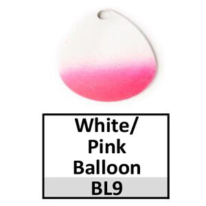 Size 4 Indiana Striped/2 Tone Basic Spinner Blades – white-pink balloon BL9