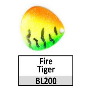 Size 6 Indiana Tiger Stripe Pattern Basic Spinner Blades – 200 Firetiger French