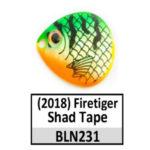 Firetiger Shad Tape