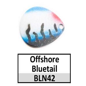 Size 4 Colorado Tiger Stripe Pattern Basic Spinner Blades – N42 Offshore Bluetail