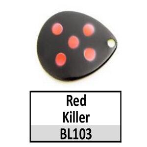Size 6 Indiana Multi Dotted Basic Spinner Blades – Red Killer BL103-BL11-BL140
