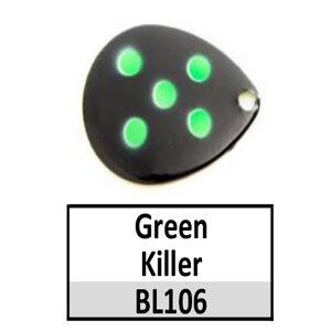 Size 5 Indiana Multi Dotted Basic Spinner Blades – Green Killer BL106-BL6