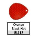 orange-black net
