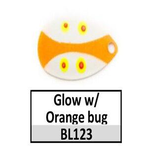 Size 5 Indiana Bug Pattern Basic Spinner Blades – BL123 Glow/orange bug