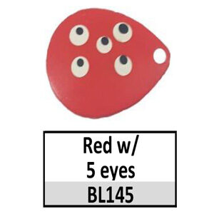 Size 6 Indiana Multi Dotted Basic Spinner Blades – Red w/ 5 eyes BL145-BL154