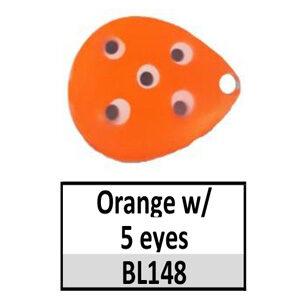 Size 6 Indiana Multi Dotted Basic Spinner Blades – Orange w/ 5 eyes BL148-BL44