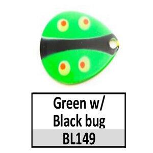 Size 6 Indiana Bug Pattern Basic Spinner Blades – BL149/73/94 Green/black bug