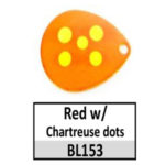 Red w/ Chartreuse dots