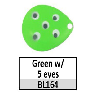 Size 6 Indiana Multi Dotted Basic Spinner Blades – Green w/ 5 eyes BL164-BL26