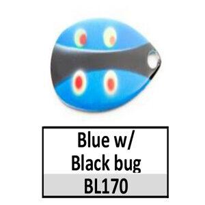 Size 5 Indiana Bug Pattern Basic Spinner Blades – BL170 Blue/black bug