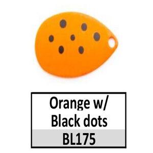 Size 3 Colorado Multi Dotted Basic Spinner Blades – Orange w/ Black dots BL175