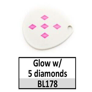 Size 4 Indiana Multi Dotted Basic Spinner Blades – Glow w/ 5 diamonds BL178