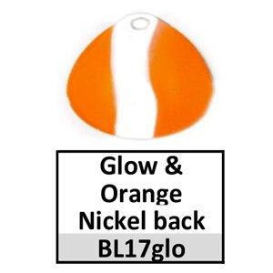 Size 3½ Colorado Striped/2 Tone Basic Spinner Blades – glow-orange nickel back BL17glo