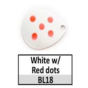Size 4 Colorado Multi Dotted Basic Spinner Blades – White w/ Red dots BL18