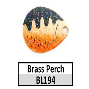 Size 5 Indiana Baitfish Perch Pattern Basic Spinner Blades – brass perch BL194