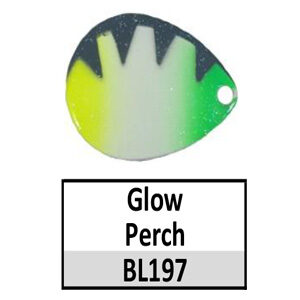 Size 4 Colorado Baitfish Perch Pattern Basic Spinner Blades – glow perch BL197
