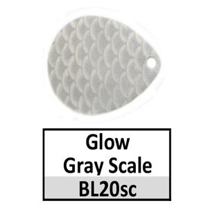 Size 3 Colorado Striped/2 Tone Basic Spinner Blades – glow-gray scale BL20sc