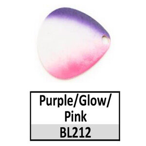 Size 4 Colorado Rainbow/Tricolored Basic Spinner Blades – Purple/Glow/Pink BL212