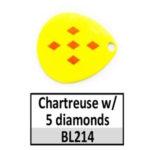 Chartreuse w/ 5 diamonds